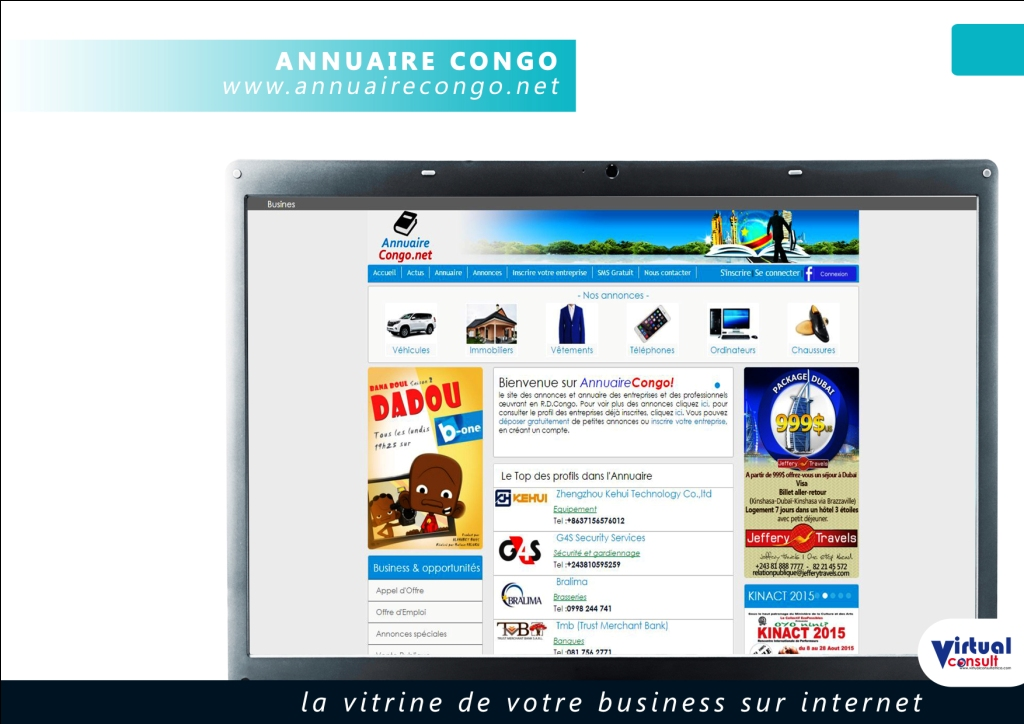 page annuaire congo